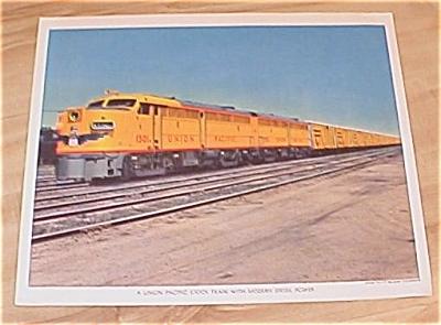 Vintage Union Pacific Railroad Original Mailing Train Prints 40s/50s (Image1)