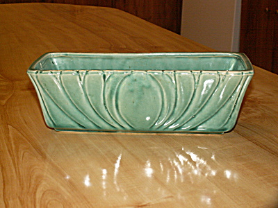 Vintage Mid Century Modern Pottery Large Planter Green 896 Usa Mark