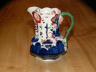 Vivid Vintage Gaudy Welsh Pitcher Old Castle Gray's Pottery England (Image1)
