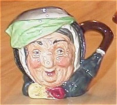 Small Royal Doulton China Toby Mug Character Jug Sairey Gamp (Image1)