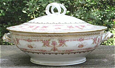 Lovely Gda Limoges China Covered Vegetable Round Serving Dish