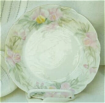 Pair Signed Hand Painted T&V Limoges China Bread & Butter Plates (Image1)