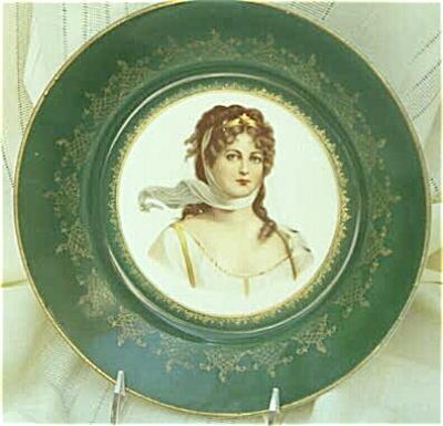 Empire China Portrait Plate, Hungarian Princess (Image1)