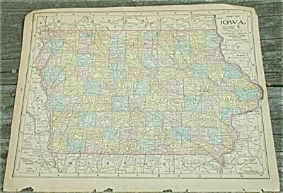 1900 Antique Maps, Varied U.S. States, Canada, Mexico, Solar System (Image1)