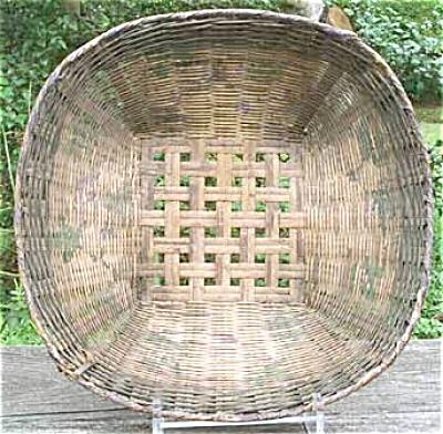 Antique Rustic Victorian Painted Basket (Image1)