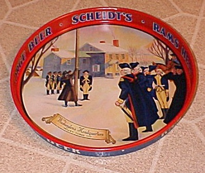Scheidts Beer Tray, Valley Forge Beer, Rams Head Ale, Norristown Pa