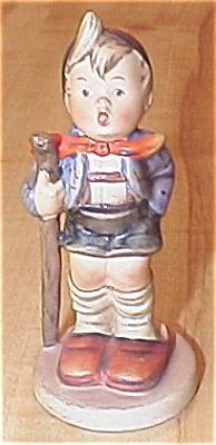 Antique Hummel Figurine Little Hiker #16 2/0 Full Bee TMK 2 (Image1)