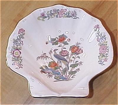 Lovely Vintage Wedgwood China Kutani Crane Shell Shaped Bowl Dish (Image1)