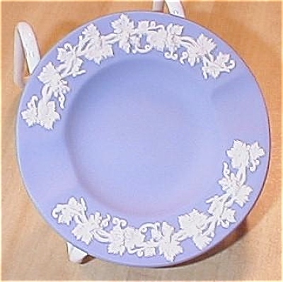 Small Wedgwood China Blue Jasperware Queensware Ashtray Trinket
