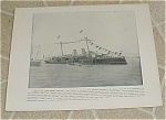 Click here to enlarge image and see more about item 1017: 1898 Spanish Navy Ship Prints, Pelayo, Almirante Oquendo