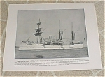 Click to view larger image of 1898 Naval Ship Antique Print, USS Petrel, USS Columbia Marine Guard (Image1)