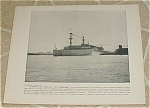 Click here to enlarge image and see more about item 1026: 1898 Naval Ship Print, USS Kentucky, USS Kearsarge, Spanish Am War