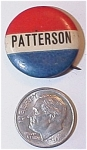 Click here to enlarge image and see more about item 1063: 1920s Patterson Political Campaign Pinback Camden NJ