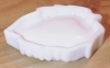 Click to view larger image of Imperial Glass White Milk Glass Leaf Soap Dish with Grapes (Image4)