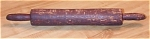 Click here to enlarge image and see more about item 1082: Vintage Rustic-looking Wood Rolling Pin, Kitchen Baking Collectible