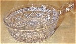 Click here to enlarge image and see more about item 1105: Imperial Glass Cape Cod Nappy Handle Bowl, Candy Dish