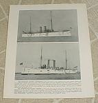Click to view larger image of 1898 Naval Ship Print, USS Cincinnati; USS Detroit; Gun Photos (Image1)