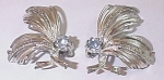 Click here to enlarge image and see more about item 1208: Vintage 1950s/1960s Emmons Jewelry Clip Earrings Rhinestone