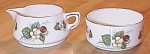 Click here to enlarge image and see more about item 1218: Spode Hammersley China Strawberry Ripe Sugar and Creamer Set