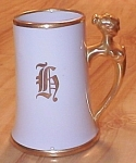 Sherratts Hand Painted Limoges China Beer Stein Tankard Lady Handle H