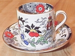 Click here to enlarge image and see more about item 1221: Coalport China Kings Ware Canton Demitasse Cup and Saucer A-B