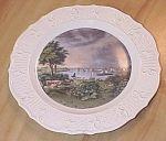 Click here to enlarge image and see more about item 1229: Currier & Ives China, Whetstone Point, Baltimore, MD, Delano Studios