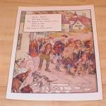 Click to view larger image of Man in Wilderness & Hark Hark 1915 Mother Goose Book Print Volland Ed (Image2)