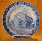 Click here to enlarge image and see more about item 1414: Souvenir China Adams Jonroth Lincoln Birthplace Plate, Hodgenville KY