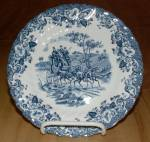 Click here to enlarge image and see more about item 1436: Johnson Brothers Coaching Scenes Hunting Country Bread & Butter Plate