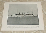 Click here to enlarge image and see more about item 160993: 1898 Naval Ship Antique Print, USS Columbia, USS Columbia's Big Gun