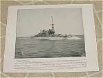 Click here to enlarge image and see more about item 161003: 1898 Naval Ship Print, USS Massachusetts, USS Raleigh, US. Navy