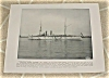 Click to view larger image of 1898 Naval Ship Print, USS Massachusetts, USS Raleigh, US. Navy (Image2)
