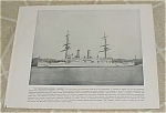 Click here to enlarge image and see more about item 161008: 1898 Naval Ship Print, USS Boston, USS San Francisco, U.S. Navy