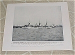 Click here to enlarge image and see more about item 161009: 1898 Naval Ship Print, USS Dolphin USS Bancroft, Spanish American War