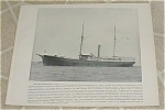 1898 Naval Ship Print, USS Fern USS Minneapolis, Spanish American War