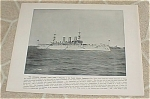 Click here to enlarge image and see more about item 161018: 1898 Naval Ship Antique Print, USS New York, Torpedo Boat, U.S. Navy