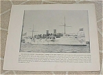 Click here to enlarge image and see more about item 161022: 1898 Naval Ship Print, USS Philadelphia, USS Miantonomah, U.S. Navy