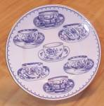 Click here to enlarge image and see more about item 1717: 1995 Royal Worcester Cup of Cups Salad Dessert Plates Blue/White
