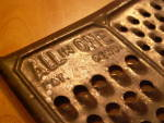 Click to view larger image of Vintage All In One Grater Kitchen Utensil Shredder, Cheese Veggies (Image4)