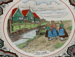Click to view larger image of Antique Maestricht Souvenir Plate Holland Netherlands 3 Dutch Girls  (Image2)