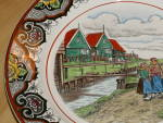 Click to view larger image of Antique Maestricht Souvenir Plate Holland Netherlands 3 Dutch Girls  (Image4)