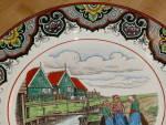 Click to view larger image of Antique Maestricht Souvenir Plate Holland Netherlands 3 Dutch Girls  (Image5)