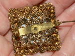 Click to view larger image of Pre WWII Porcelain Plaque Pin Brooch Costume Jewelry Stern Germany (Image7)