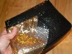 Click to view larger image of Vintage Y&S Original Mesh Crossbody Hipster Handbag Purse Tri-color (Image4)
