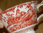 Click to view larger image of Royal Crown Derby China Cup & Saucer Red Aves A 74 Bloomingdale's  (Image7)
