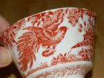 Click to view larger image of Royal Crown Derby China Cup & Saucer Red Aves A 74 Bloomingdale's  (Image8)