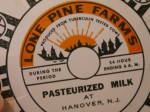 Click to view larger image of Flat Never Used Old Stock Milk Bottle Cap Lone Pine Farms Hanover NJ (Image4)