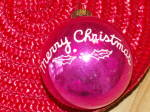 Click to view larger image of Vintage Shiny Brite Glass Tree Ornament Merry Christmas Ball  (Image5)