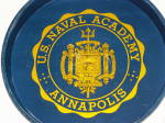 Click to view larger image of Vtg US Naval Academy Annapolis VA Navy Metal Beer Tray Seal Trident (Image7)