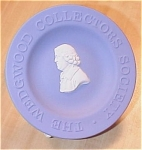 Click here to enlarge image and see more about item 23445: Wedgwood China Blue Jasperware Queensware Dish Collectors Society